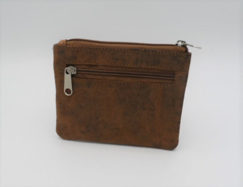 personal gift for men and women mini wallet Personalizable key pocket with card pockets and zip pocket