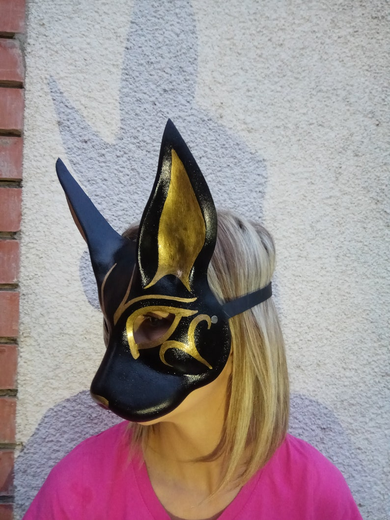 Egyptian cat mask hand made