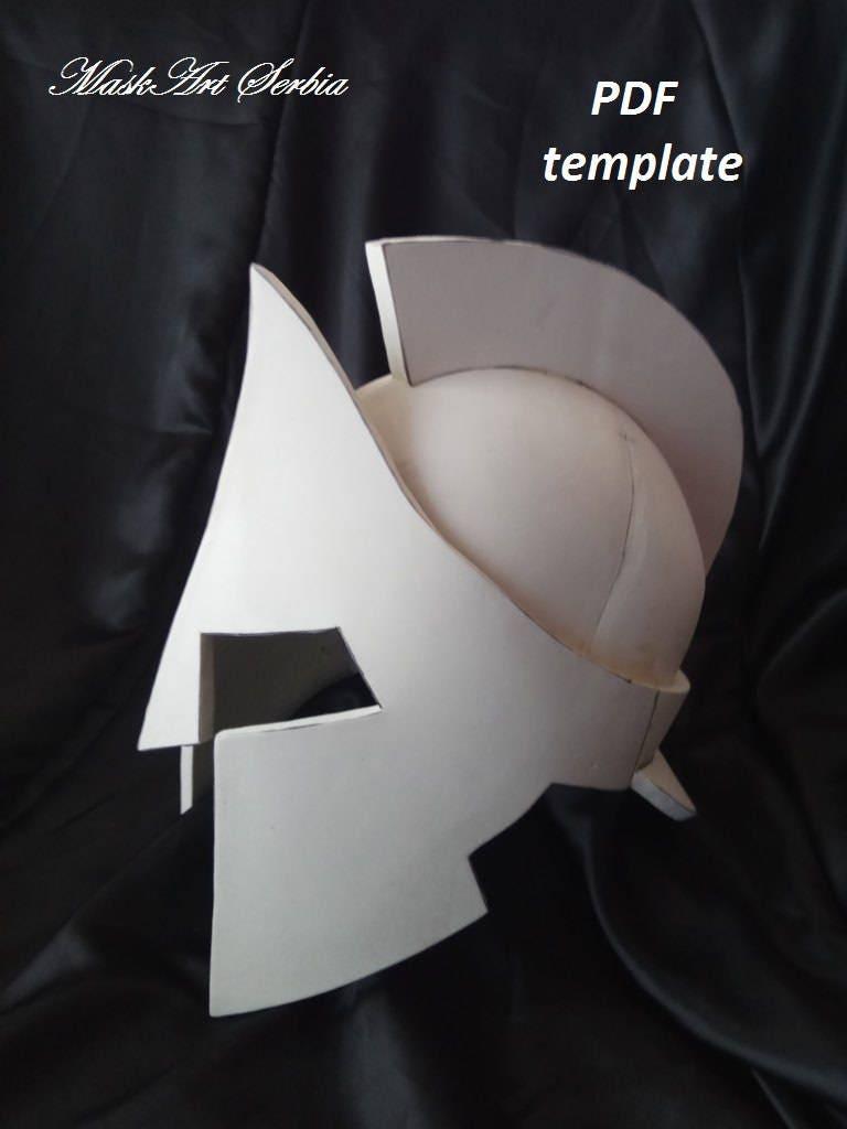 Leonidas Helmet Template Eva Foam Etsy
