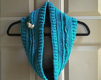 Teal Butterfly Scarf