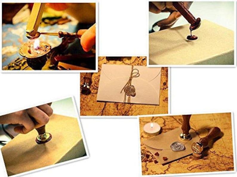 Custom Initial Date Wedding Invitation Personalized Wax Seal Kit Trumpet Wax Seal Stamp Trumpet Wax Stamp Trumpet Sealing Wax Stamp Kit