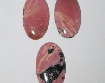 5 Pcs Rhodonite Oval 10x14mm AAA Grade Loose Gemstone Cabochon