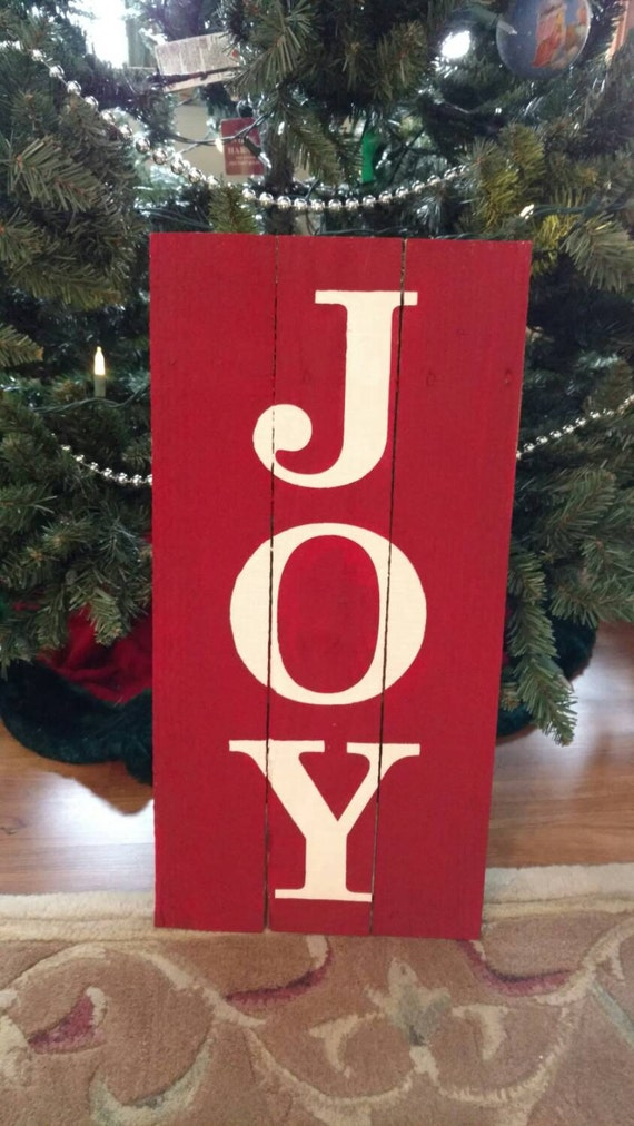 Joy Christmas Pallet Sign | Etsy