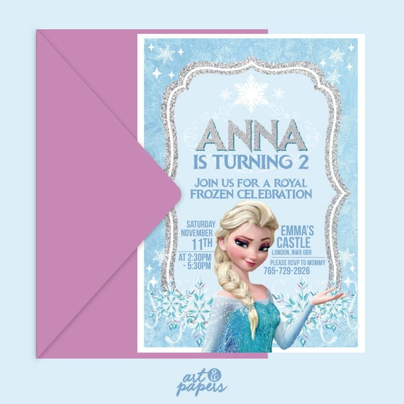 It is a graphic of Frozen Invites Printable in layout