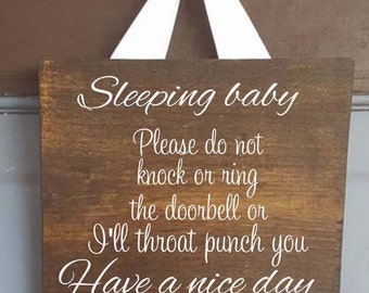 Sleeping Baby Signs in script