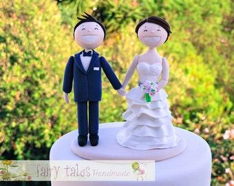 Wedding Cake Topper Figurine Bride and Groom