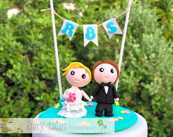Wedding Cake Topper Funny with Stand