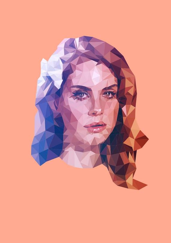Lana Del Rey Illustration Art Print Wall Art Music Poster Etsy