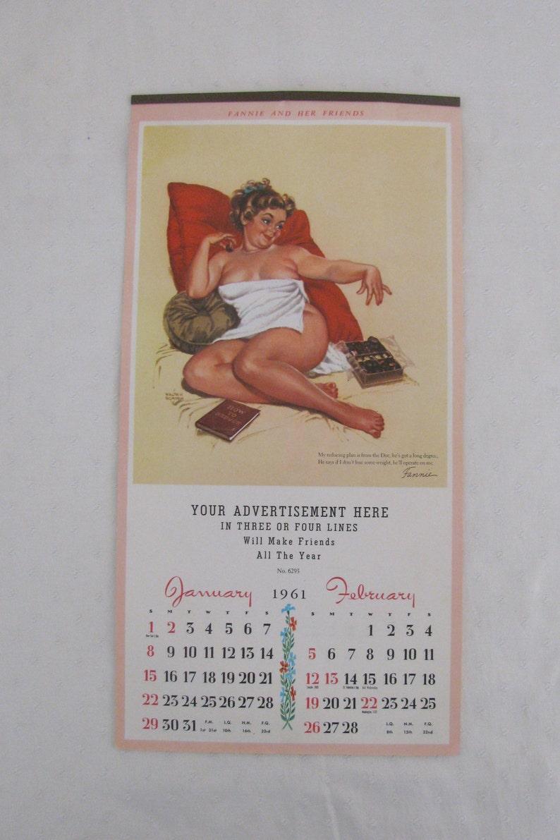 Calendario Del 1961.Soy Novedad 1961 Fannie Y Su Calendario De Amigos De Walter Borden Bastante Rara En Excelente Estado Sin Uso