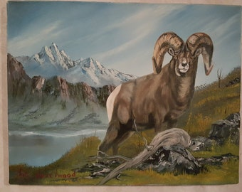 Original Oil Bighorn Sheep