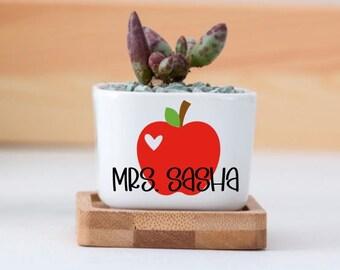 Teacher Gifts, Succulent Pots, Gift For Teacher, Gift Idea For Teacher, Succulent Gift, Teacher Appreciation Gift