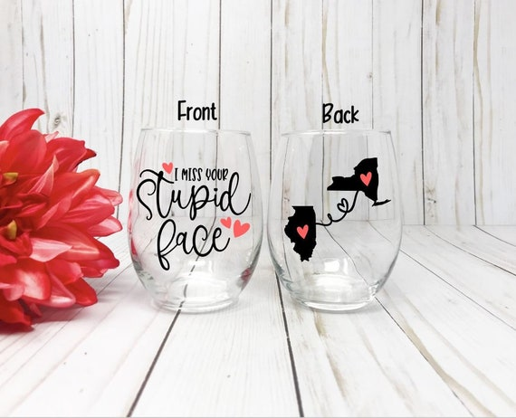 Best Friend Wine Glass Gift Long Distance