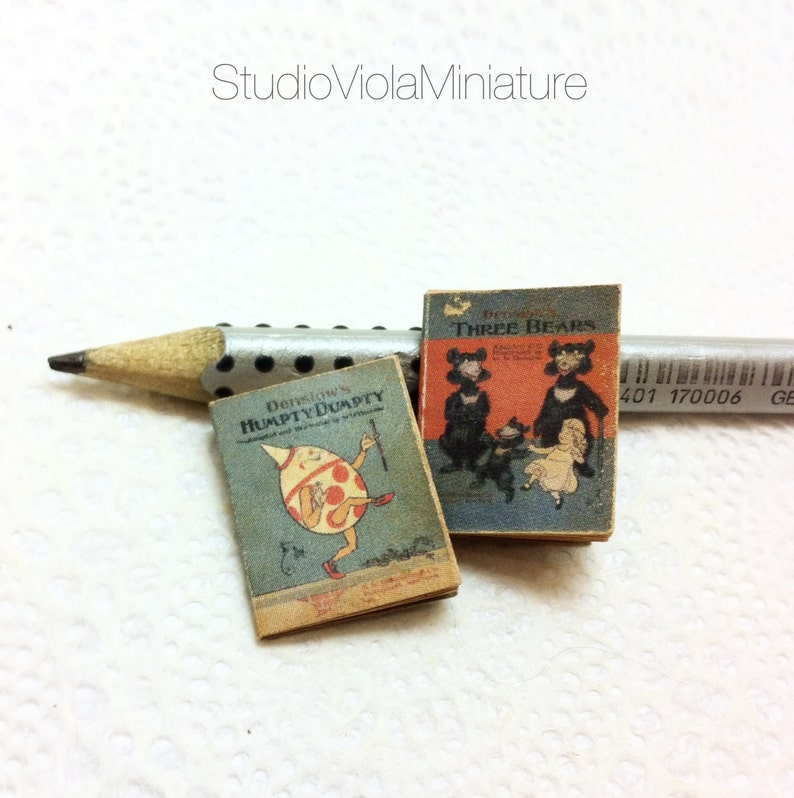 1:12 SCALE MINIATURE BOOK HUMPTY DUMPTY ILLUSTRATED DOLLHOUSE