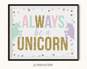 Sparkle Like A Unicorn Print Unicorn Printable Unicorn Etsy