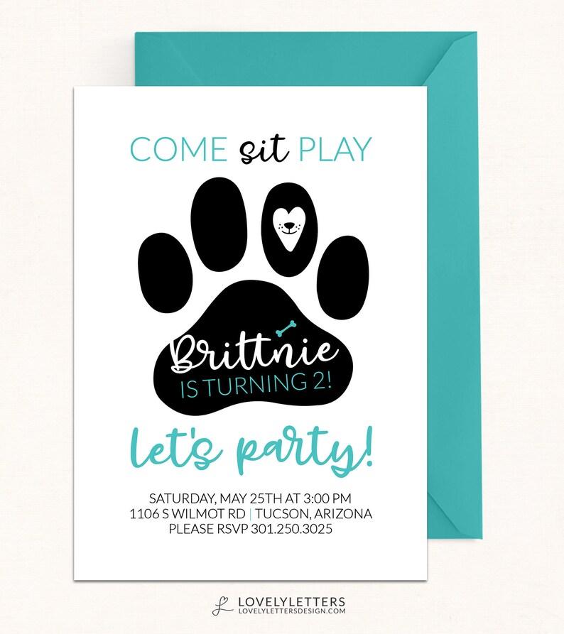 Girl Puppy Invitation / DIGITAL / Puppy Birthday Invitation / Pink Puppy  Party Invitation / Puppy Pawty / Puppy Invite / Puppy Paw-ty