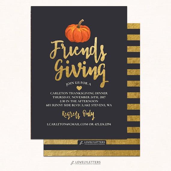 friendsgiving invitation thanksgiving invitation digital etsy