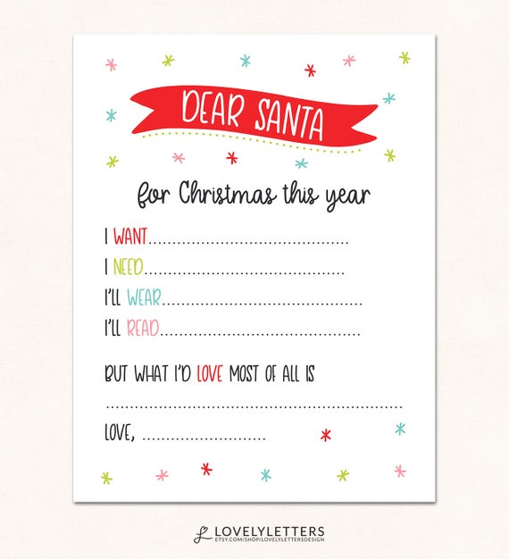 photo about Dear Santa Printable named Pricey Santa Printable / Pricey Santa Print / Electronic / Expensive