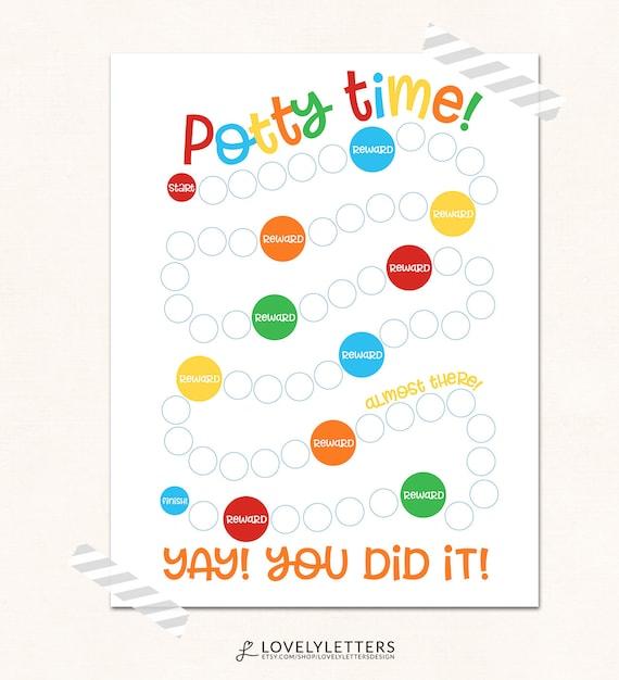 printable potty training reward chart