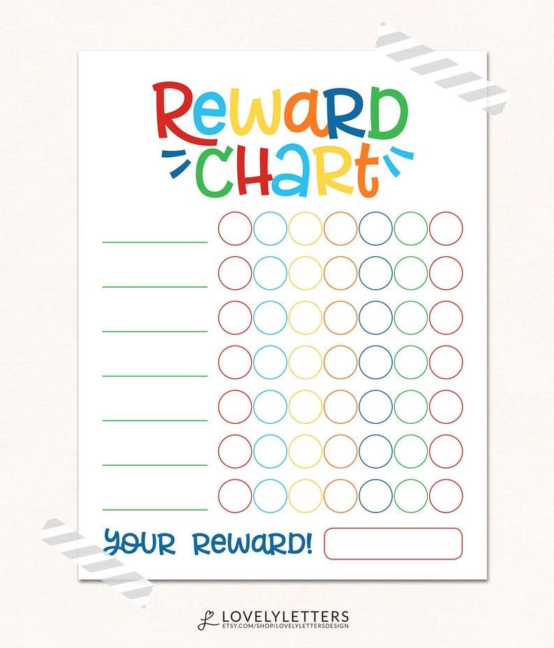 Reward chart digital kids reward chart progress chart etsy