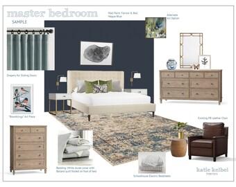 Bedroom Interior Design, E-Decorating, E-Design, E-Designer, E-Decorator, Interior Design Service