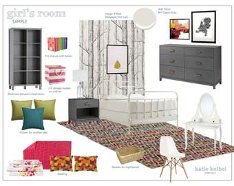 Child's Bedroom Interior Design, E-Decorating, E-Design, E-Designer, E-Decorator, Interior Design Service