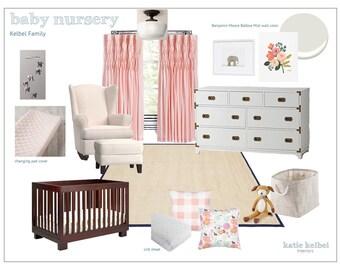 Nursery Interior Design, E-Decorating, E-Design, E-Designer, E-Decorator, Interior Design Service
