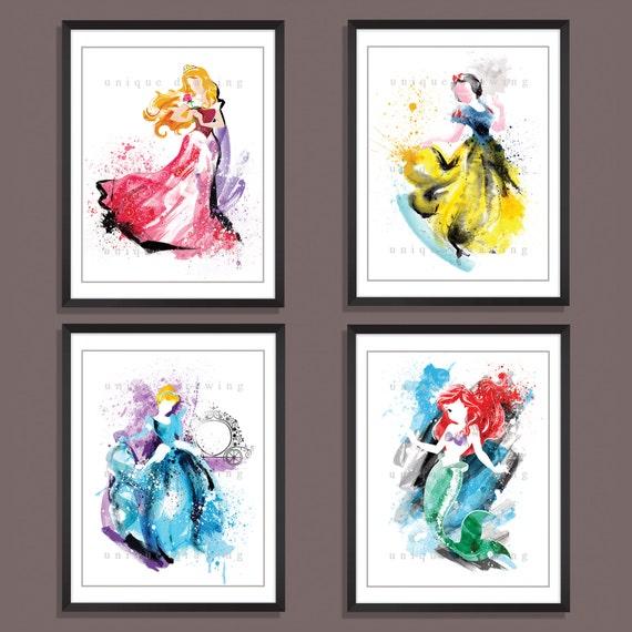 "18/""x36/"" Princess Cinderella Mulan Ariel Snow White Personalized Birthday Banner"