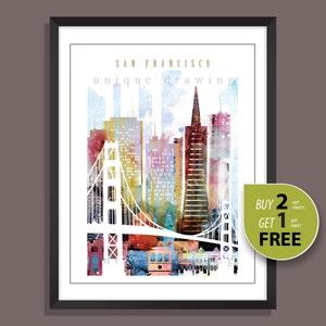 San Francisco San Francisco Sehenswurdigkeiten San Francisco Etsy