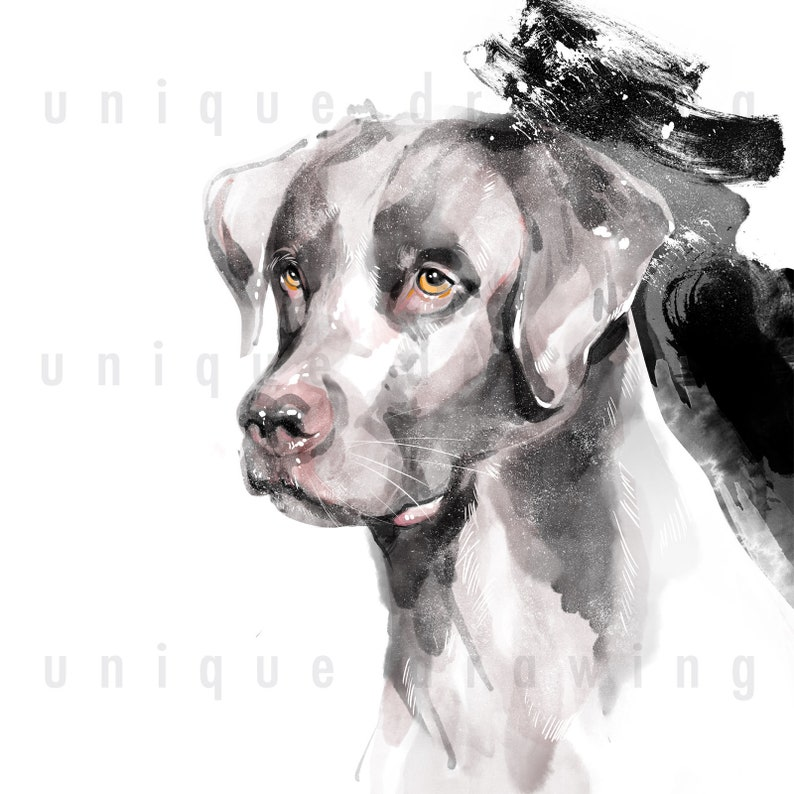 DOG Portrait from Photo Pet Dog Portrait Custom Painting Personalized Custom Pet Drawing Memorial Gift Puppy Dog Portrait for Gift 009dog