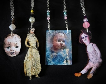 Creepy Doll Gothic Necklace / Goth Jewellery / Horror Gift