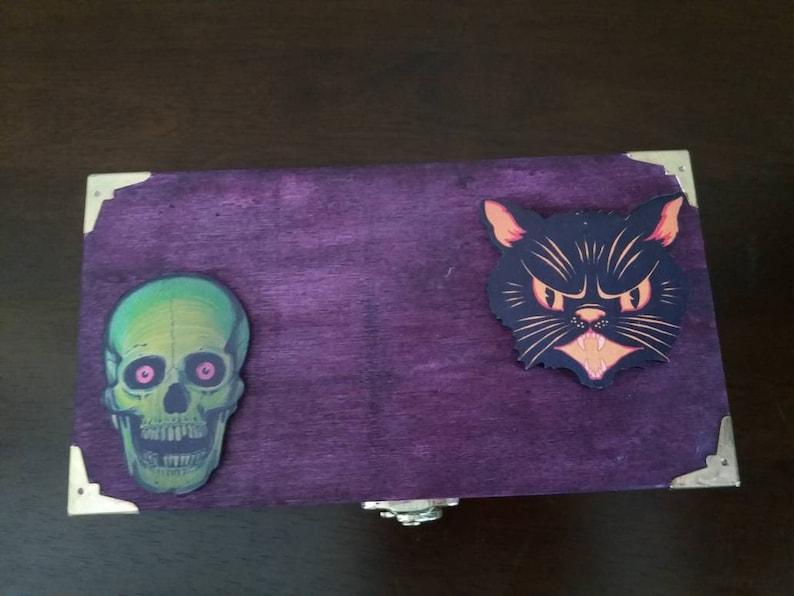 Skull trinket box Horror decor creepy skeleton decor