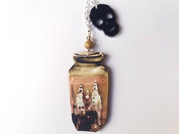 Coffin Necklace Horror Jewellery  Creepy Pendant  Pastel Goth Pendant  Horror Neckace Creepy
