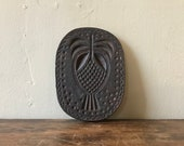 Cast Iron Pineapple Mold Or Cookie Press, Oval Shaped, Likely American, 19th Century