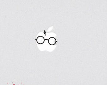 Wizard Macbook Decal Sticker Witchcraft School Wizardry School HP Scarf Scar Glasses Macbook Air Macbook Pro Sticker Film Inspired Decal