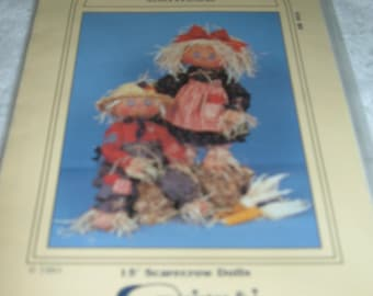 My sister and  I patterns Lil Snoose & Corncob 15 inch Scarecrows 1991 UNCUT