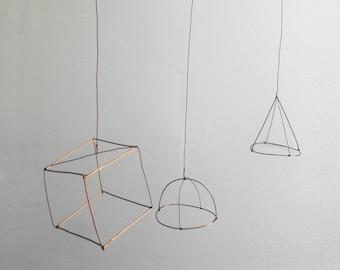 Minimalist 3D geometric mobile