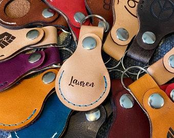 Leather Airtag Keychain, Leather Airtags, AirTag Keyring Leather Case, Airtags Case