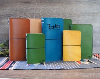 Traveler's Notebook Notebook Red Journal Refillable Fauxdori Custom Notebook Personalized Graduation Gift