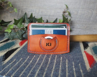 Personalized Airtag Wallet Leather Airtag Wallet Father's Day gift for Dad Airtag Gift Apple Gift