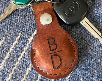 AirTag Leather Keychain, Leather Airtags, AirTag Keyring Leather Case, Airtags Case