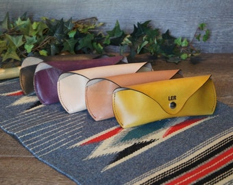 Leather Sunglasses Case, Leather Sunglass Case, Glasses Case, Leather Case, Glasses Protector Handmade to order - Will fit Ray Ban etc