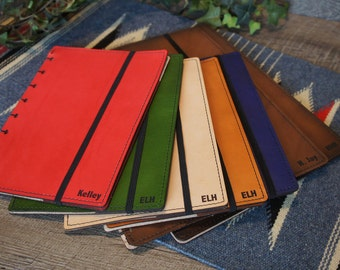 Leather Personalized Discbound Planner Cover