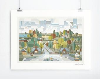 Sutton Park (Art Print, Unframed)