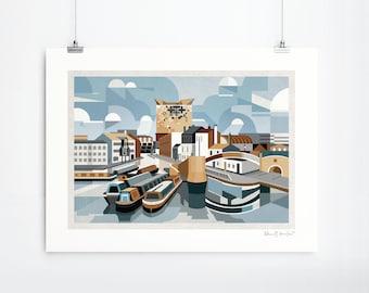 Gas Street Basin (Art Print, Unframed)