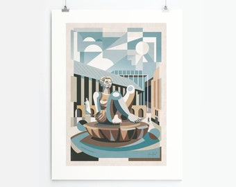 The Floozie In The Jacuzzi (Art Print, Unframed)