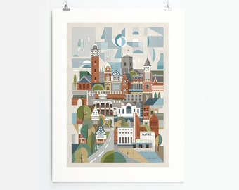 Sutton Coldfield (Art Print, Unframed)