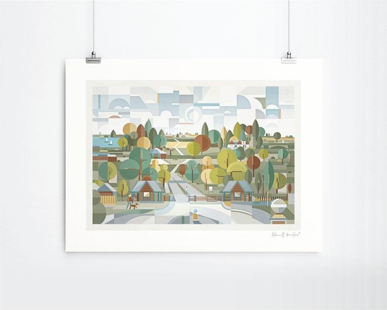 Sutton Park Art Print Unframed image 0