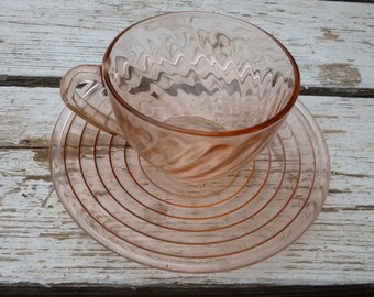 FREE SHIPPING! Rose pink cup and saucer