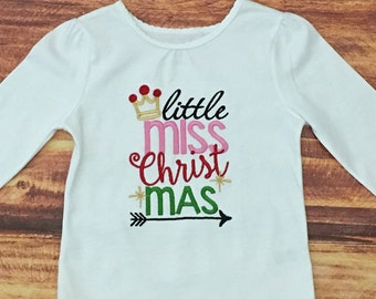 Baby girl christmas dress little miss christmas outfit girls etsy