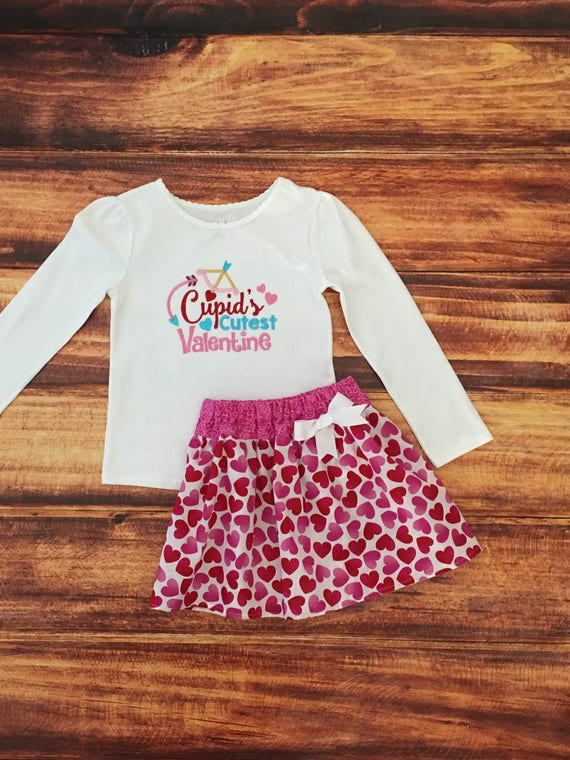 Valentines Day Outfit Girl Baby Girl Valentines Valentines Etsy
